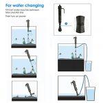 bedee Aspirateur électrique pour Aquarium, Nettoie Les graviers, Le Sable et Filtre l'eau