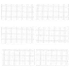 Lot de 6 grilles Wetrys pour diviser un aquarium en plusieurs espaces, pour isoler les poissons – Pour le bas de l'aquarium, pour le filtre – Blanches