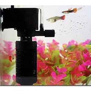 malloom filtre d'Aquarium Petit trois en un filtre Interne d'Aquarium pompe à eau submersible d'oxygène pour bassin de poissons