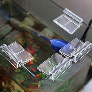 MOOSUNGEEK Lot de 4 Clips en Plastique pour Aquarium Transparent