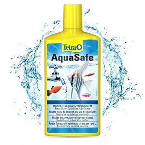 TETRA AquaSafe – Conditionneur d'Eau Naturel pour Poissons Tropicaux -Agit en 5 mn – Eau Douce et Eau de Mer – Anti-Chlore- 500ml