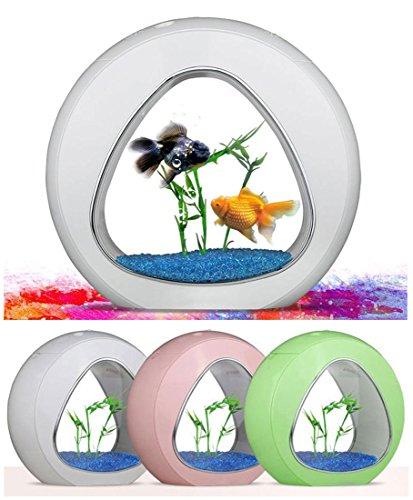 USB mini Aquarium Fish Tank, atmosphère chaleureuse lumière LED Bureau poisson Globe pour bureau chambre salon bureau Decor , green , l