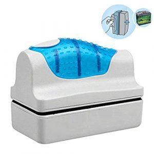 Yakamoz Brosse Magnétique de Nettoyage de Verre Nettoyeur Aimant de Verre Grattoir Algues Nettoyage Brosse Flottante pour Aquarium Fish Tank Taille S