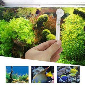 Prevently NEUF Creative Verre Transparent de haute qualité au mètre Aquarium Thermomètre de température de l'eau Ventouse, a