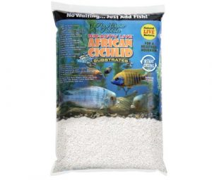 Africain Cichlidae Collage Bio-activ Live Cichlidae Sable pour Aquarium, 9,1 Kilogram, Blanc Naturel