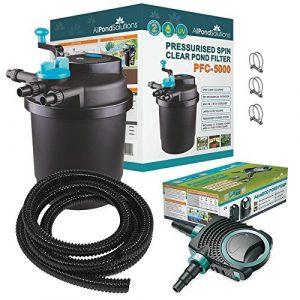 All Pond Solutions PFC-5000-Kit de Filtre Pressurisé pour Bassins à Koïs/Stérilisateur UV pour Aquariophilie
