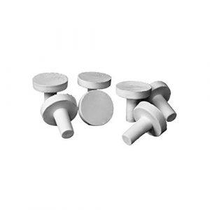iQuatics Lot de 2 Grandes Chevilles en céramique Standard SPS/LPS/ZOA/Coral 50 x 28 mm