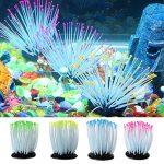 Naisicatar Aquarium lumineux Anémone de mer artificielle Coral Ornement Décoration