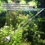 Signstek en Acier Inoxydable Algues Grattoir Nettoyant pour Aquarium Cleaner 34,5cm Racloir avec Extension DE 19,1cm Tige et Manche DE 11,4cm 10Lames Inclus
