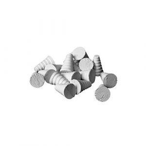iQuatics Lot de 50 Bouchons en céramique cône/zoa Frag SPS/LPS/ZOA/Coral Doux 50 x 16 mm