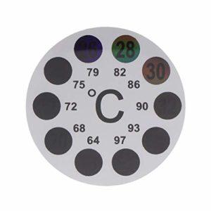 JunYe Thermomètre d'aquarium Autocollant Thermomètre Numérique 18 à 36 Température