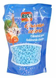 Riga Gravier Aquarium pour Aquariophilie Bleu 450 g