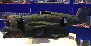 Grande Épave d'avion Ruine pour aquarium