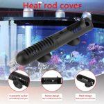 Jullyelegant 18cm Aquarium Fish Frog Turtle Tank Heater Guard Housse de Protection Housse de Protection avec ventouses Diamètre intérieur 3cm avec ventouses – Noir – S
