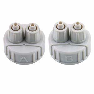 Kit ABS Système Bricolage CO2 Partie du générateur Bouchon de la Bouteille avec Tubes pour Interface Aquarium A/B plantée Poids léger Portable (Gris Clair) (Togames)