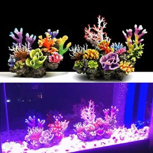 WDRL Aquarium Écologique Décoration, Couple de Rêves Corallien Simulé Paysage sous-Marin CrÉAtif, DÉCoration Accessoires D'ornement D'aquarium pour l'eau SalÉE d'eau Douce