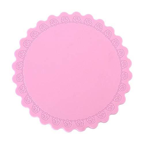 Tapis en silicone antidérapant résistant à la chaleur pour outil de protection de vaisselle ou de bols (07)