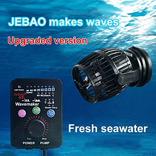 Laecabv Aquarium Flow Pump Wave Maker with Contrôleur Intelligent Circulation Pompe d'aquarium Pompe de Wave Maker Pompe (RW-4)