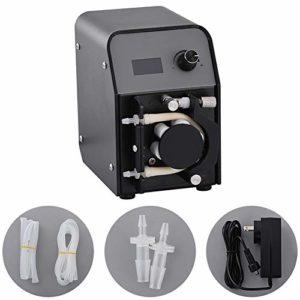 MUJING Pompe de Dosage d'aquarium Portable Mini Pompe péristaltique Intelligente Pompe Auto-amorçante Laboratoire 24V Silencieux Petite Pompe de séparation de Liquide