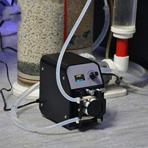 MUJING Pompe péristaltique, Une Pompe de Dosage DC12V / 24V tête de Tube de Bricolage pour Analyse Chimique dans l'aquarium de Laboratoire
