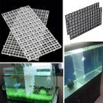 SUPEWOLD fond d'aquarium Tableau d'Isoler, tableau Passoire, plateau intercalaire Caisse Aquarium Transparent Grille inférieur filtre, plaque d'Isoler,
