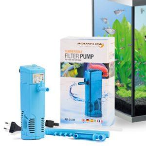 Aquaflow Technology® AIF-012M – Pompe de filtre pour aquarium submersible pour eau fraîche et eau salée. Pour réservoirs d'aquarium jusqu'à 50 litres. 300L/H 3W