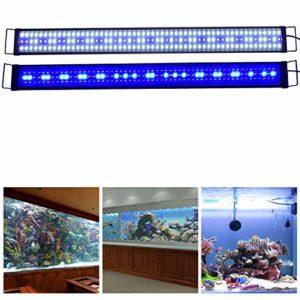 Aquarien ECO Rampe LED Aquarium 150CM Blanc Bleu Lumière Nuit Douce 150cm-180cm Extensible Fiche Européenne Lampe Éclairage pour Plante Poisson Aquariophilie A178