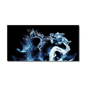 Aquarium Glow Décor Dragon d'eau Aquarium HD Poisson Paysage Aquarium Décorations réservoir (Couleur : Noir, Taille : 122x46cm)