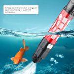 Borstu Nettoyant pour Aquarium Sable Automatique – pour Changement d'eau et Nettoyage du Filtre