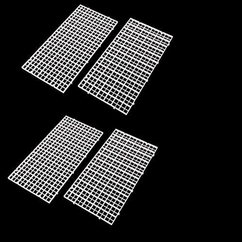 CCCYMM – Lot de 4grilles d'isolation du Fond du réservoir à Poissons – Style alvéolé