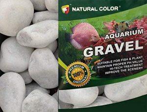 Couleur Naturelle Gravier Galets, 3–5cm, Blanc