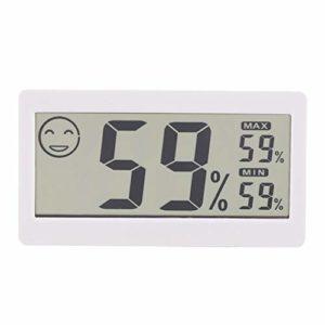 DERCLIVE Hygromètre Numérique Domestique Thermomètre Moniteur D'humidité Moniteur 2-en-1 Blanc