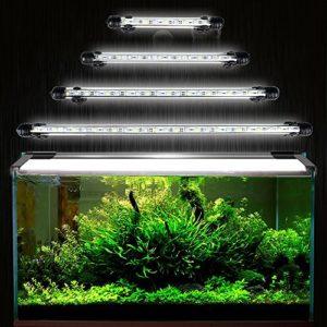 Docean Lampe LED pour aquarium, 15 puces LED 5050SMD, 28 cm, Prise EU, Blanc, Étanche [Classe énergétique A++]
