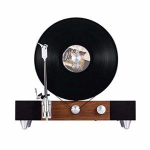 ETH Erection De Haut-parleurs De Disque Vinyle Rétro Machine Phonographe Bluetooth Triangle De Fer Couleur Noyer Foncé 43 * 25 * 40cm Carnaval d'halloween