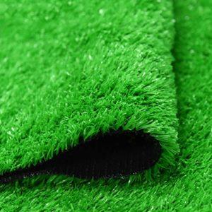 Gazon artificiel Tapis d'herbe artificielle réaliste réaliste d'herbe artificielle bon marché parfait for la pelouse artificielle de paysage intérieur et extérieur for animaux de compagnie, vert émera