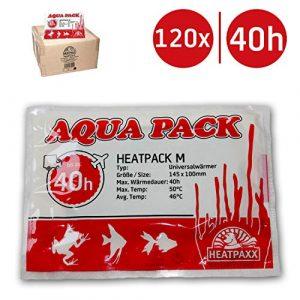 HeatPaxx Lot de 120 caloducs M 40 h avec système AquaPack pour Chauffage de Transport pour Animaux Taille du Colis : 1 – 120 pièces – 10 cm x 13 cm – 40 Heures de Chaleur
