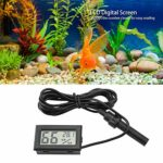 HEEPDD Thermomètre hygromètre Aquarium, Mini Thermomètre hygromètre Poster pour Aquarium Aquarium Tortue Decoration Aquarium cachette Decoration Aquarium