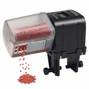 IREENUO Automatique Chargeur de Poisson, Distributeur de Nourriture pour Poissons avec écran LCD Réglage du Temps Alimentation,Convient pour Aquarium Réservoir de Tortues