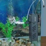 IREENUO Filtre Aquarium, Ajustable 15W 1500L/H Submersible Pompe Eau for Aquarium Intérieur Pompe a Air Fontaine