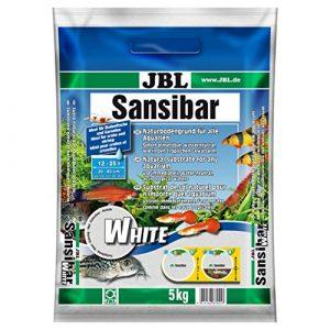 JBL Sansibar WHITE 5kg – Substrat de sol blanc fin pour aquariums d'eau douce ou d'eau de mer