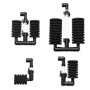 LNIEGE Pompe à air Bio, éponge Filtre Aquarium Filtre Aquarium déchets Submersible Filtre – # 3 (Noir)