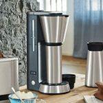 Machine à café entièrement automatique intelligent, goutte à goutte programmable, une machine avec deux tasses, avec minuterie, conception anti-goutte à goutte, une bouteille d'eau en acier inoxydable