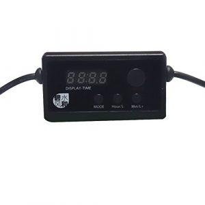 Modulateur de variateur LED permanent pour éclairage d'aquarium (noir), noir