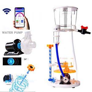 MUJING Écumeur Aquarium Aquarium Skimmer Filtre qualité de l'eau Amélioration des Poissons tropicaux et Poissons d'ornement protéines intégré/Séparation des déchets d'élimination des impuretés,EC80