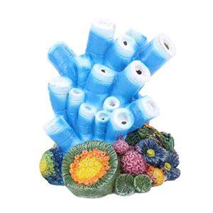 Nicedier Aquarium Ornement Décorations Corail – Bulle d'air Corail Pearly Shells Pompe à oxygène Artisanat résine pour Poissons d'aquarium Décor réservoir