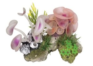 Nobby Pierre de Corail avec Plantes Décoration pour Aquarium 14 x 10 x 10 cm