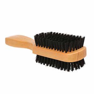 Nukana Pinceau De Rasage pour Barbe Brosse à Cheveux Faciale en Bois à Double Face Brosse De Massage Outil De Toilettage De Barbe