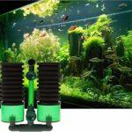 Pengfei Réservoir de crevettes en Cristal Filtre Anti-air à Double tête Filtre à Pompe à oxygène Filtre Coton Fish Tank WC (QS-100)