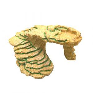 POPETPOP Plate-Forme de Reptiles Cachette de Tortue Reptiles Plate-Forme Flottante Tortue Escalade Plate-Forme Flottante Île Se Prélassant pour Les Tortues Grenouilles