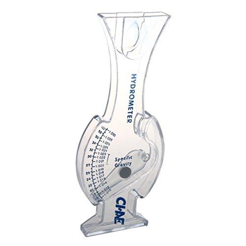 PQZATX Hydromètre classique pour aquarium, eau salée, eau marine, eau salée